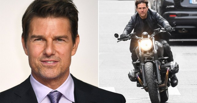 Motorbike explodes on Mission Impossible