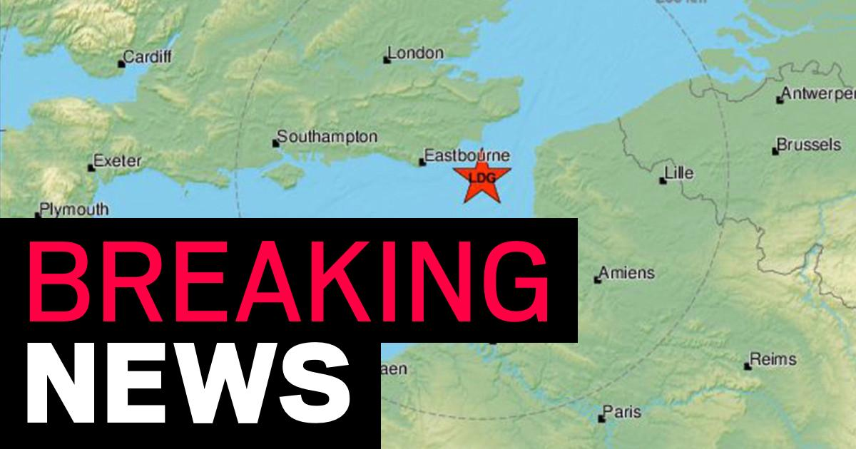 Earthquake rocks Sussex coast after hitting the English Channel - metro