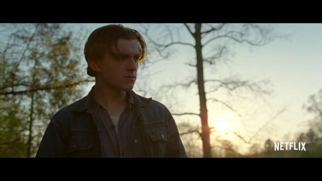Creepy trailer for Robert Pattinson and Tom Holland's Netflix film picture: NETFLIX METROGRAB
