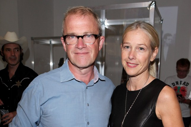 LONDON, ENGLAND - SEPTEMBER 06: Harry Enfield (L) and wife Lucy Lyster attend the launch of 'Black Market Clash', an exhibition of personal memorabilia and items curated by original members of The Clash, at 75 Berwick Street on September 6, 2013 in London, England. (Photo by David M. Benett/Getty Images)