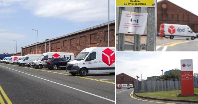 A DPD depot in Oldbury, Sandwell, West Midlands