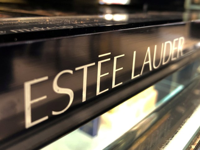 FILE PHOTO: An Estee Lauder cosmetics counter is seen in Los Angeles, California, U.S., August 19, 2019. REUTERS/Lucy Nicholson/File Photo GLOBAL BUSINESS WEEK AHEAD