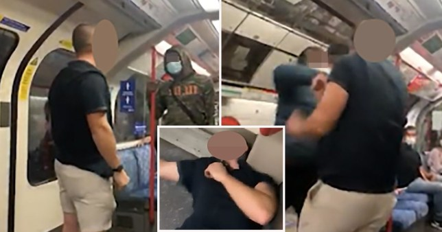 White man knocked out after racist Tube rant.