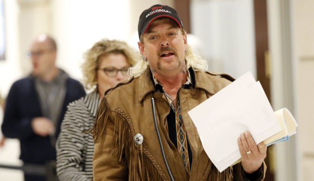 Joe Exotic is the main character in the Netflix series Tiger King: Murder, Mayhem and Madness. April 9, 2018; Oklahoma City, OK, USA; Joe Exotic files to run for governor as a Libertarian candidate at the state Capitol in Oklahoma City, Monday, April 9, 2018. (Photo by Nate Billings/The Oklahoman/Imagn/USA Today Network/Sipa USA)