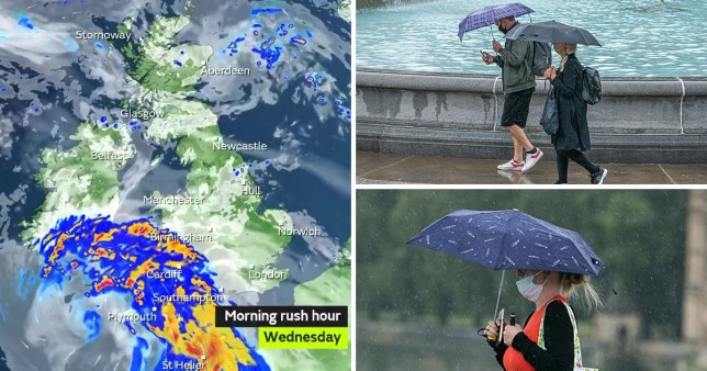 The Met Office has issued weather warnings for wind across Wales, south-west Scotland and Northern Ireland as Storm Ellen sweeps across the country during two days of rain