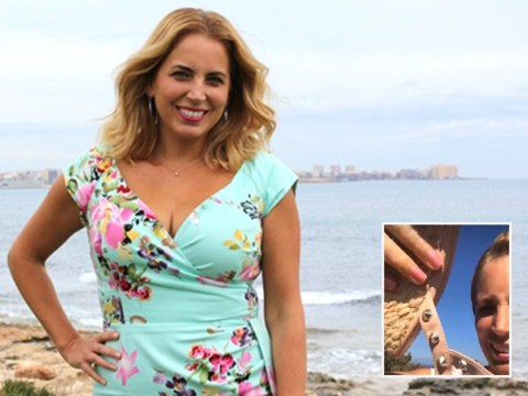 A Place In The Sun presenter Jasmine Harman has wardrobe malfunction while filming
