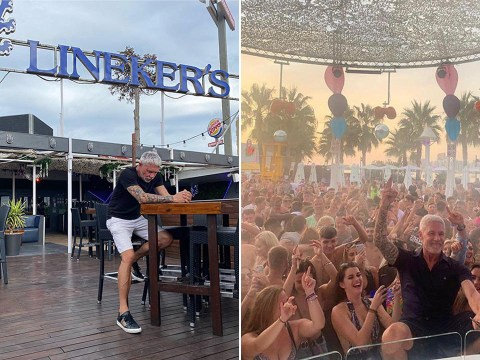 Wayne Lineker looks miserable as he's forced to shut Ibiza club after '8 employees test positive for Covid-19'