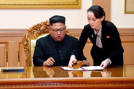 Kim Yo Jong avec Kim Jong Un