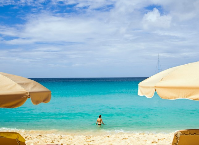 beach in Anguilla in the caribbean