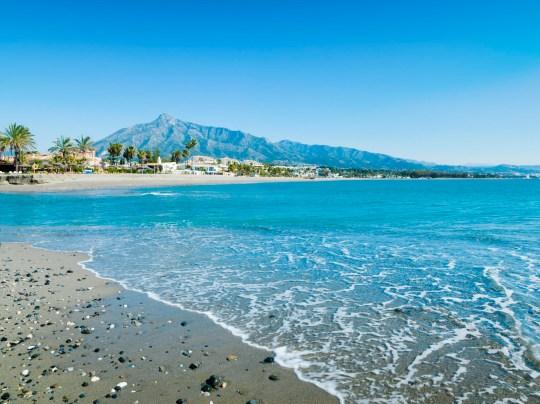 Rio Verde Beach à Marbella, Malaga, Espagne