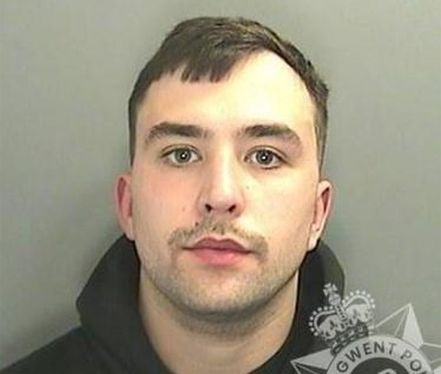 Lewis Alexander has been jailed for 12 months after pleading guilty to two counts of causing actual bodily harm (Picture: Gwent Police)