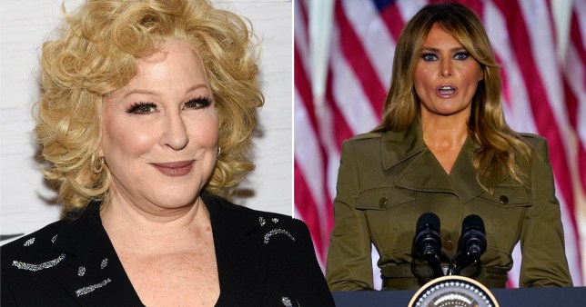 Bette Midler responds to backlash following xenophobic tweets mocking Melania Trump's accent
