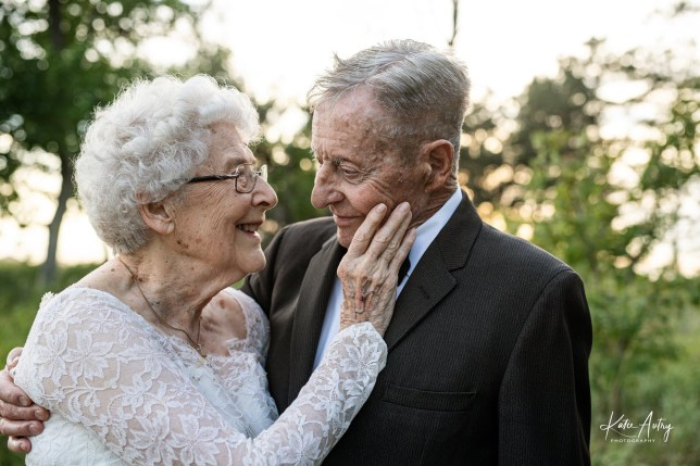 Marvin and Lucille Stone celebrating their anniversary with a very special photo shoot.