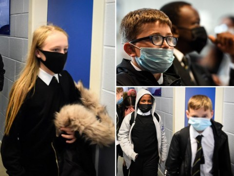 Pupils in Scotland wear face masks to school for first time