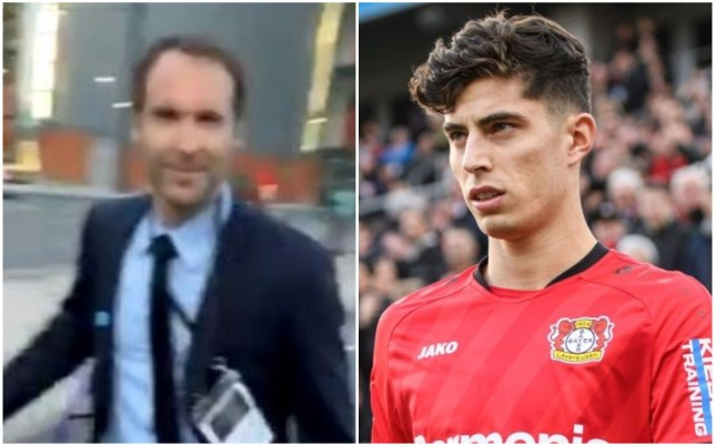 Petr Cech has remained coy over Chelsea's bid to sign Kai Havertz