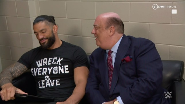 WWE superstar Roman Reigns with Paul Heyman on SmackDown