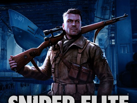 Sniper Elite board game comes with a model of Adolf Hitler being shot in the balls
