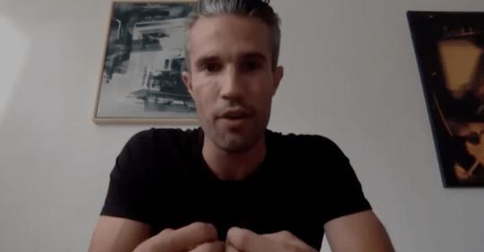 Van Persie speaks to Soccer AM presenter Lloyd Griffith