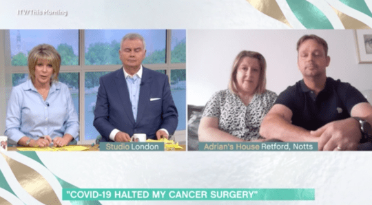 This Morning: Eamonn Holmes and Ruth Langsford with cancer patient Adrian