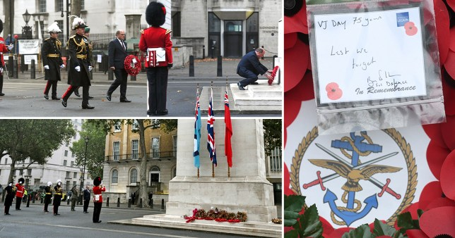 VJ Day commemorations at the Cenotaph at Whitehall.