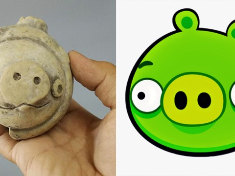 3,000 year old clay figure looks like a pig from Angry Birds