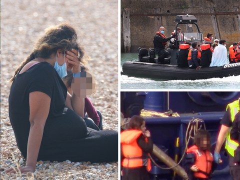 Heavily pregnant woman among 235 migrants intercepted in English Channel