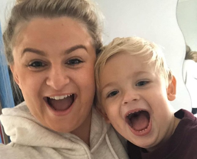 Carla Louise Phillips with her son, Alfie, now three