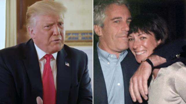 Donald Trump, Jeffrey Epstein and Ghislaine Maxwell