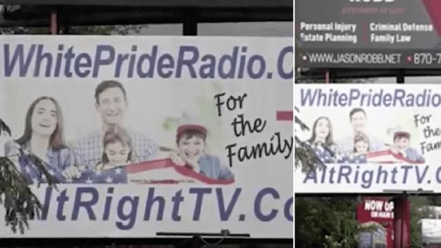 'White Pride' billboard in Harrison, Arkansas