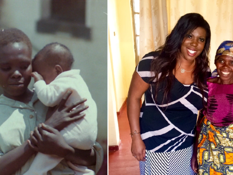 Baby born in African mud hut to girl, 14, saves mother's life during emotional reunion 30 years on