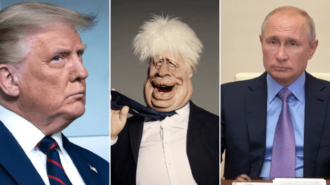 Spitting Image Forced To Reshoot Penis Fight Between Johnson And Trump Metro News