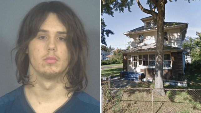 Jeremy Lindsey and the house where he killed his family's newborn puppy