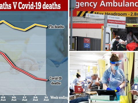 Nearly five times more people dying of flu and pneumonia than coronavirus