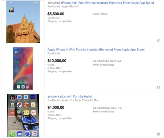 Iphones With Fortnite Installed Are Being Listed For 10 000 On Ebay Metro News