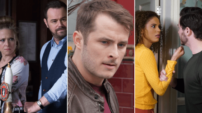 EastEnders - Linda and Mick Carter, Ben Mitchell, Chantelle and Gray Atkins
