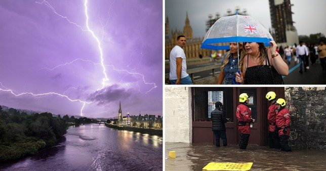 The Met Office has issued yellow thunderstorm warnings until Monday, after England hit by flash flooding.