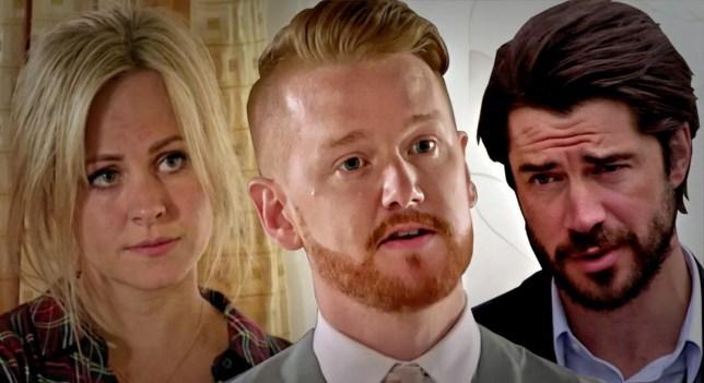Gary, Adam and Sarah in Coronation Stree