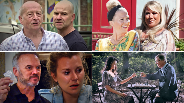 Geoff and Tim in Coronation Street, Kellie Bright and Letitia Dean in EastEnders: Secrets From The Square, Malone and Dawn in Emmerdale, Silas and Lynsey in Hollyoaks