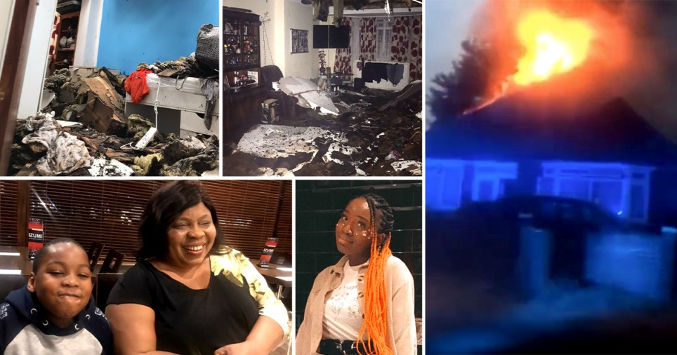 A fundraiser has been launched to help a family whose east London home was burnt down in a shock fire.