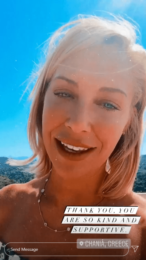 A Place In The Sun star Laura Hamilton in an Instagram video