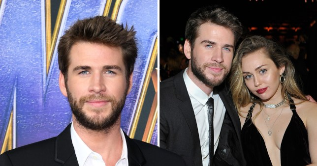 Liam Hemsworth pictured with Miley Cyrus