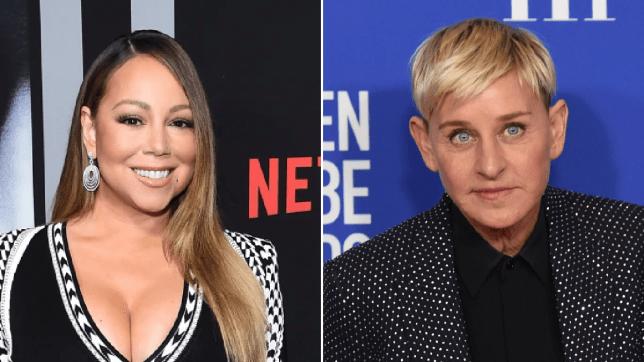 Mariah Carey and Ellen DeGeneres