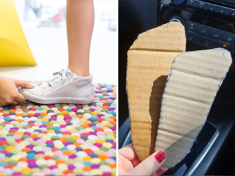 Mum shows easy way to measure kids' feet so you don't have to take them to a store