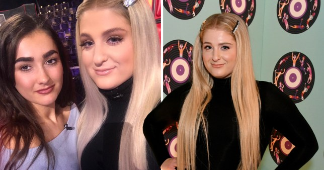The Voice contestant Brooke Scullion and Meghan Trainor