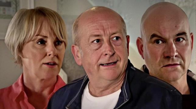 Geoff, Sally and Tim in Coronation Street