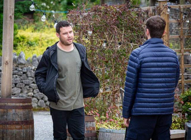 Aaron and Ben in Emmerdale