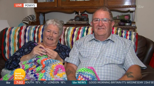 Elaine and Alun on Good Morning Britain