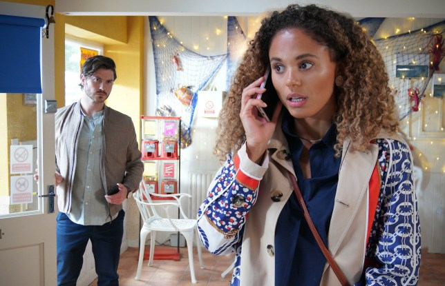 Gray and Chantelle in EastEnders