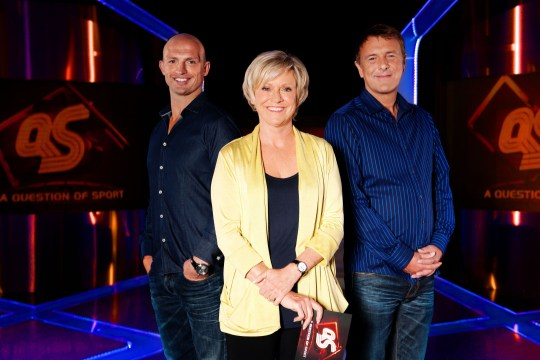 Television Programme: A Question of Sport with Matt Dawson, Sue Barker, Phil Tufnell - TX: n/a - Episode: n/a (No. n/a) - Picture Shows: Matt Dawson, Sue Barker, Phil Tufnell - (C) BBC - Photographer: Stephen Brooks