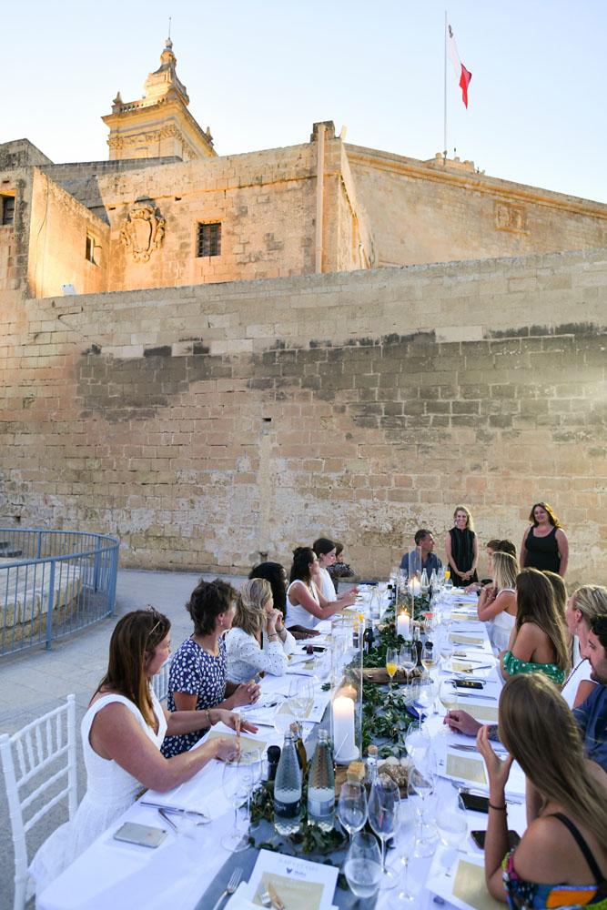 dinner party in gozo